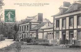 76 - SEINE MARITIME / Le Grand Tendos - Arrêt De La Voiture Du Chemin De Fer - Beau Cliché Animé - France