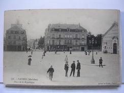 56 - VANNES - PLACE DE LA REPUBLIQUE - ANIMEE - 1914 - Vannes