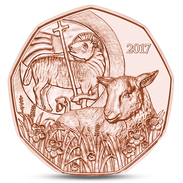 AUSTRIA AUTRICHE ÖSTERREICH 5 EURO EASTER LAMB UNC 2017 - Autriche
