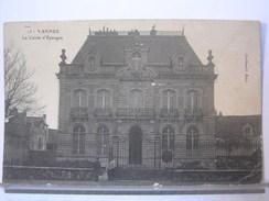 56 - VANNES - LA CAISSE D4EPARGNE - CACHET ESCon TRAIN - 1914 - Vannes