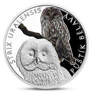 NIUE 1 DOLLAR URAL OWL BIRD SILVER PROOF 2017 - Niue