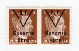 SAVERNE -- Type 1 Et 2 Se Tenant 3pf -- Signé - Liberazione