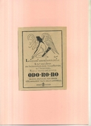 FRANCE . CREME ODO.RO.NO  . PUB  DES ANNEES 1920 ILLUSTREE PAR LEPAPE . DECOUPEE ET COLLEE SUR PAPIER . - Publicités
