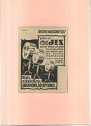 FRANCE . TAMPONS JEX  . PUB  DES ANNEES 1920  . DECOUPEE ET COLLEE SUR PAPIER . - Pubblicitari
