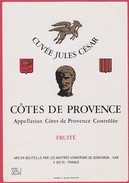 ETIQUETTE COTES DE PROVENCE - CUVEE JULES CESAR - Rosés
