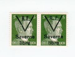 SAVERNE -- Type 1 Et 2 Se Tenant 5pf -- Signé - Liberazione