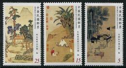 TAIWAN 2016 - Art, Peintures Anciennes Chinoises - 3 Val Neuf // Mnh - 1945-... République De Chine