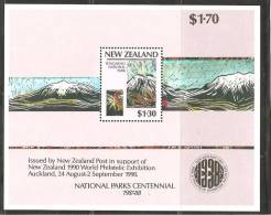 New Zealand 1987 Miniature Sheet National Park Scene Tongariri Volcano MNH - Nieuw-Zeeland
