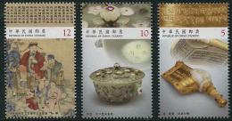 TAIWAN 2015 - Art Chinois, Pièces Du Musée Palace - 3 Val Neuf // Mnh - 1945-... République De Chine