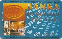 Albania - Albtelecom - BKT Bank - ALB-07, 07.1996, 20.000ex, Used - Albania