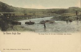 BOER WAR, Long Tom Gun Of 155 Mm Crossing A River (1900) - Other Wars