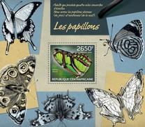 CENTRAFRICAINE 2014 SHEET BUTTERFLIES INSECTS PAPILLONS INSECTES BORBOLETAS SCHMETTERLINGEN BORBOLETAS FARFALLE Ca14215b - Centraal-Afrikaanse Republiek