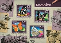 CENTRAFRICAINE 2014 SHEET BUTTERFLIES INSECTS PAPILLONS INSECTES BORBOLETAS SCHMETTERLINGEN BORBOLETAS FARFALLE Ca14216a - Centraal-Afrikaanse Republiek
