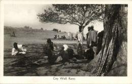Nigeria, KANO, Native People Near City Wall (1930s) RPPC - Nigeria