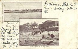 Sudan, WADY HALFA, Multiview, Landing Place (1904) - Sudan