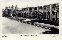 Sudan, KHARTOUM, The Grand Hotel (1940s) RPPC - Sudan
