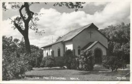 Northern Rhodesia, NDOLA, Anglican Pro-Cathedral (1950s) RPPC Stamps - Zambia