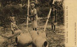 Fiji Islands, KADAVU, Baking Of Pots, Native Pottery Making (1910s) F.W. Caine - Fiji