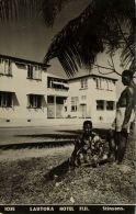 Fiji Islands, LAUTOKA, Hotel With Native People (1950s) Stinsons RPPC 1035 - Fiji
