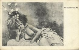 Fiji Islands, Native NUDE Island Girl, Jewelry (1910s) - Fiji