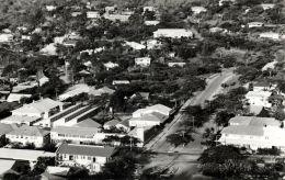 Papua New Guinea, MORESBY, Business Centre, Aerial View (1950s) RPPC - Papua New Guinea