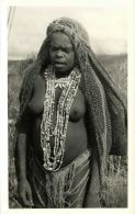 New Guinea, Native NUDE Papua Girl, Necklace Jewelry (1950s) RPPC - Papua New Guinea