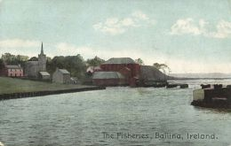 Ireland, BALLINA, Co. Mayo, The Fisheries (1911) - Mayo