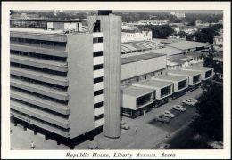 Ghana, ACCRA, Republic House, Liberty Avenue (1950s) RPPC - Ghana - Gold Coast