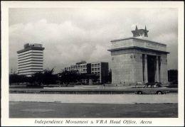 Ghana, ACCRA, Independence Monument & VRA Head Office (1950s) RPPC - Ghana - Gold Coast