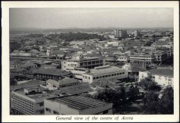 Ghana, ACCRA, General View Of Town Centre (1950s) RPPC - Ghana - Gold Coast