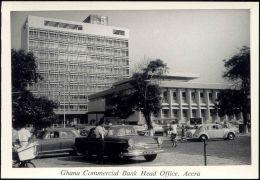 Ghana, ACCRA, Ghana Commercial Bank Head Office, Car (1950s) RPPC - Ghana - Gold Coast