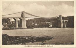 Wales, MENAI BRIDGE, Suspension Bridge (1920s) - Anglesey