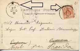 20620 Italia,postmark VINCI  27.DEC 1901 On Circuled Card (leonardo Da Vinci)  (see 2 Scans) - Celebrità