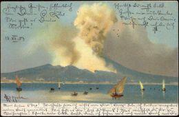 Italy, NAPOLI, Vesuvio, Mount Vesuvius Volcano At Work (1903) Stamps - Napoli (Napels)