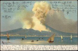 Italy, NAPOLI, Vesuvio, Mount Vesuvius Volcano At Work (1903) Stamps - Napoli (Naples)