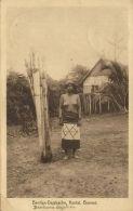 Indonesia, BORNEO KALIMANTAN, Kutai, NUDE Bentian Dayak Girl (1933) Postcard - Indonesië
