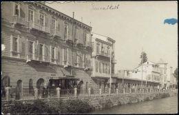 Syria, DAMAS DAMASCUS, Street Shops TRAM (1930s) RPPC - Syria