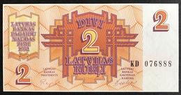 Latvia - 2 Rubli 1992 UNC , Serie KD - Lettonie
