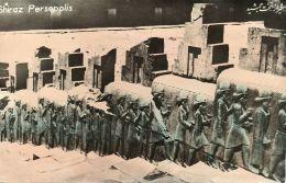 Iran Persia, PERSEPOLIS SHIRAZ, Ruins (1950s) Tinted RPPC (2) - Iran