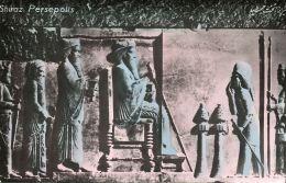 Iran Persia, PERSEPOLIS SHIRAZ, Ruins (1950s) Tinted RPPC (3) - Iran