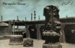 Iran Persia, PERSEPOLIS SHIRAZ, Ruins (1950s) Tinted RPPC (5) - Iran