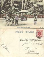 China, HONG KONG, Native Sedan Chair And Rickshaw (1921) Postcard - China (Hong Kong)