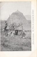 Océanie - Nouvelle-Calédonie - Précurseur 1ère Série - Case Et Canaques De Koné - Nu - N° 60 - New Caledonia
