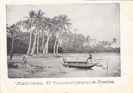 Océanie - Nouvelle-Calédonie - Précurseur 1ère Série - Canaques Et Pirogues De Houailou - N° 57 - New Caledonia