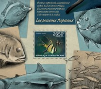 CENTRAFRICAINE 2014 SHEET FISHES TROPICALS MARINE LIFE POISSONS TROPICAUX VIE MARINE PEIXES FISCHE PECES Ca14217b - República Centroafricana