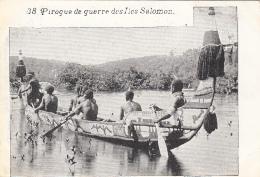 Océanie - Iles Salomon - Précurseur 1ère Série - Pirogue De Guerre - N° 38 - Salomon