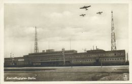 Germany, BERLIN, Zentralflughafen, Airport With Airplanes (1930s) RPPC - Germany