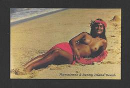 PIN-UPS - JOLIE FEMME HAWAIENNE SUR LA PLAGE À SUNNY ISLAND BEACH FLORIDA - Pin-Ups