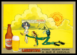 LOURENÇO MARQUES - PUBLICIDADE - « LAURENTINA » - Para Quem Sabe O Que é Cerveja.  Carte Postale - Mozambique