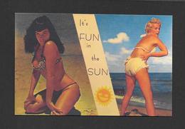 PIN-UPS - JOLIES FEMMES SUR LA PLAGE - FLORIDA - IT'S FUN IN THE SUN - PRETTY WOMEN ON THE BEACH - Pin-Ups